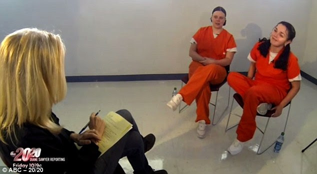 Defiant: Cole and Carr refused to believe they are going to be executed