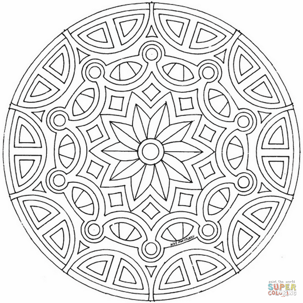 celtic mandala 8 coloring page