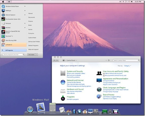 Mac OS X Lion Transformation Pack For Windows 7 SP1