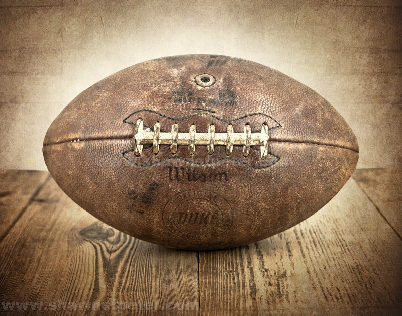 ON SALE Vintage Football 11x14 print, Boys Room decor, Boys Nursery Ideas, Sports art, Sport Prints, Man Cave