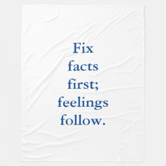 Fix Facts First Fleece Blanket 50x60""