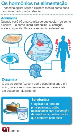 info hormônios alimentação (Foto: arte / G1)