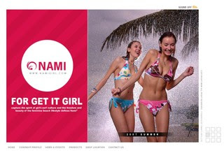 Swimming Wear Website Design - Nami 2007