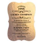 Faux Gold Foil Label Party Invitations