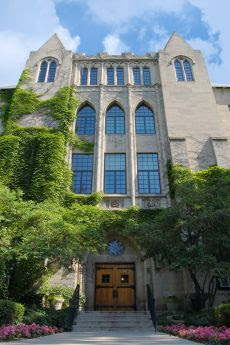 Dominican University's Lewis Hall. The university has made the top tier of master's level universities in the Midwest for the past 14 years.