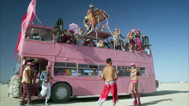 Party bus at burning man