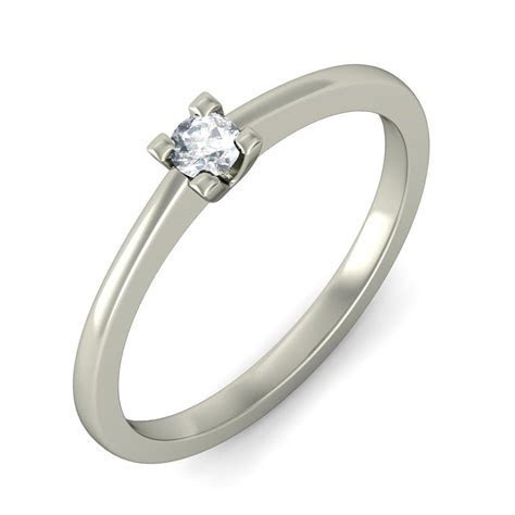 Enthralling Cheap Solitaire Wedding Ring 0.20 Carat Round