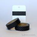 Black Dotted Washi Tape   WashiTapesNL www.washitapes.nl #washitape #maskingtape