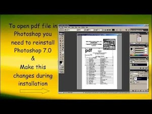 open and edit  PDF files in adobe  photoshop