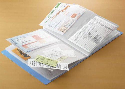 コクヨ 領収書&明細ファイル かたづけファイル 青 A4-S 48ポケット A5横サイズのポケットを上下2段に配置 ラ-YR520B