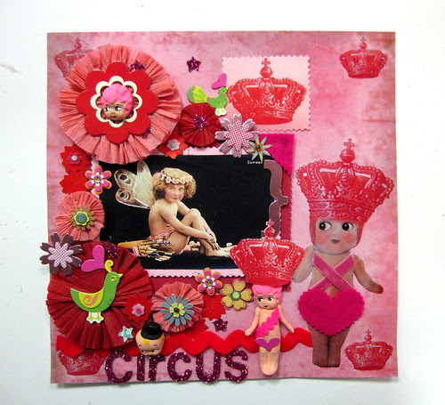 Circus Cupie Scrapbook Layout! 7