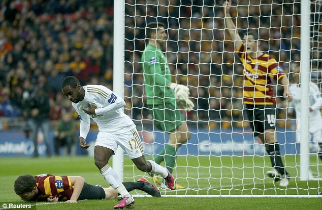Opener: Dyer celebrates giving the Premier League side an early lead