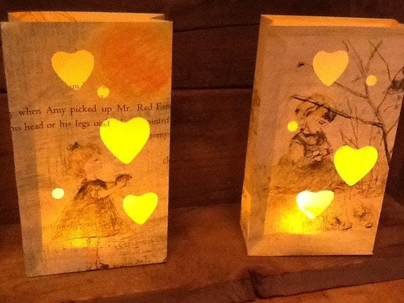 "4 Childrens Storybook Luminary Bags called ""Amy Sang""  (Series of Four)"