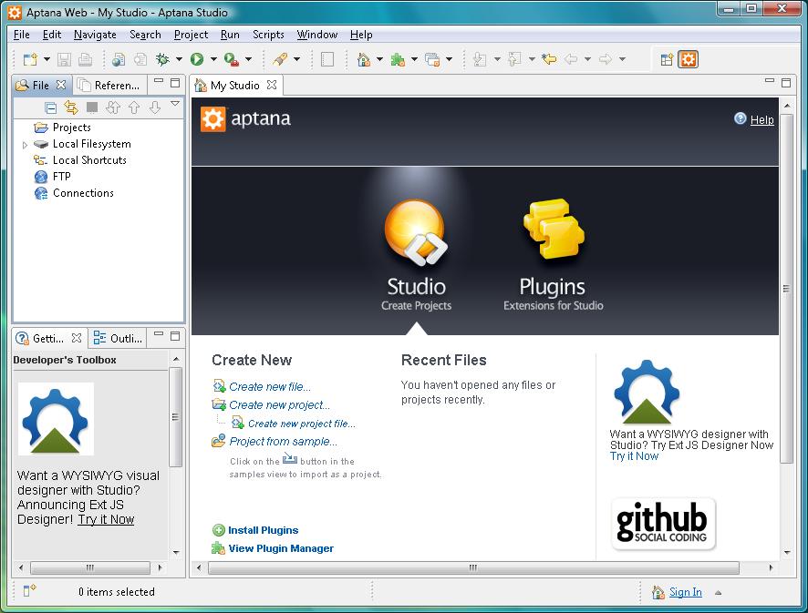 برنامج متكامل لمطورى الويب يدعم العديد من لغات البرمجة HTML، CSS،جافا سكريبت Aptana Studio 3.4.0 تحميل مجانى