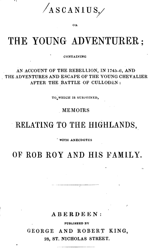 Robert King, Aberdeen (1843)
