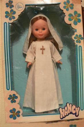 Foto muñeca de Comunión Nancy año 1970
