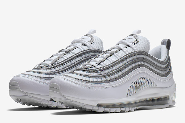 df834512c3d The Nike Air Max 97 Pairs White And Metallic Silver