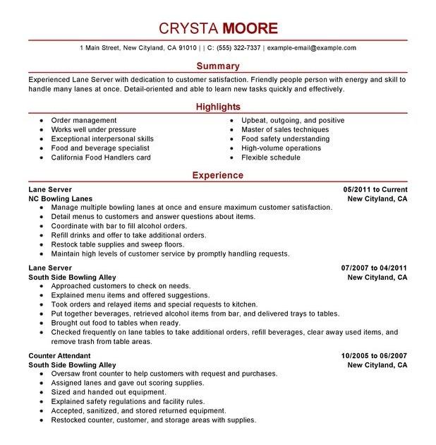 resume format  resume for minimum wage job