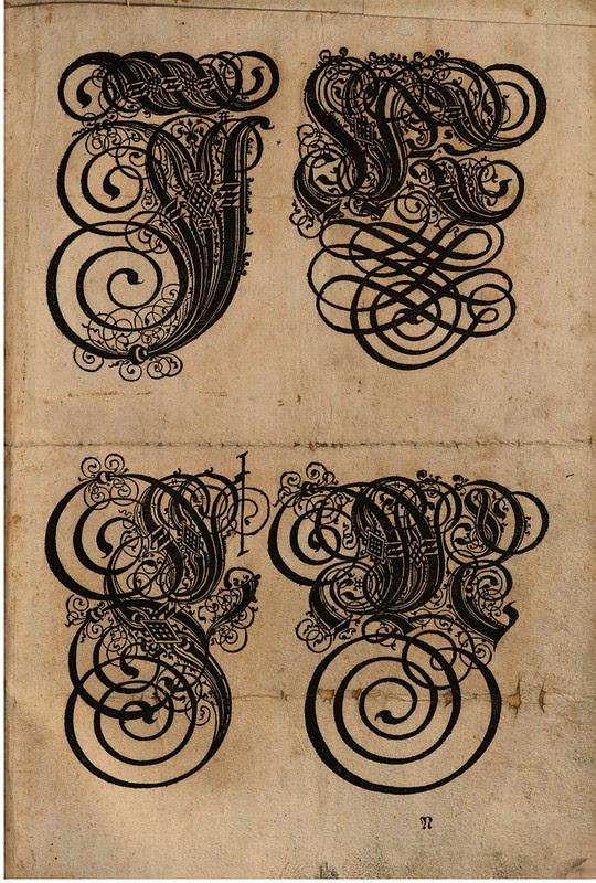 Paulus Franck - 'Schatzkammer Allerhand Versalien Lateinisch vnnd Teutsch', 1601 alphabet d