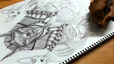 drawing time lapse anubis youtube