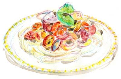 料理のイラスト水彩と色鉛筆でやさしく美味しくstucoa