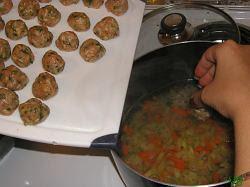 Perisoarele facute se pun in supa