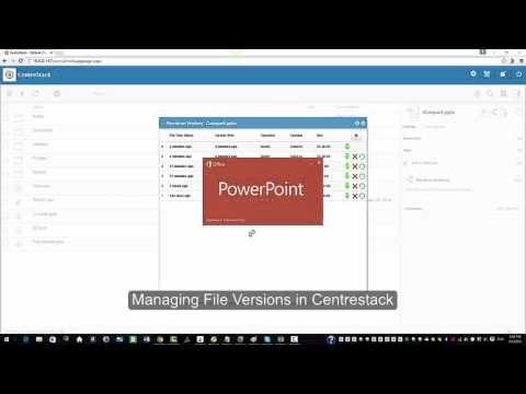 Managing File Versions in CentreStack