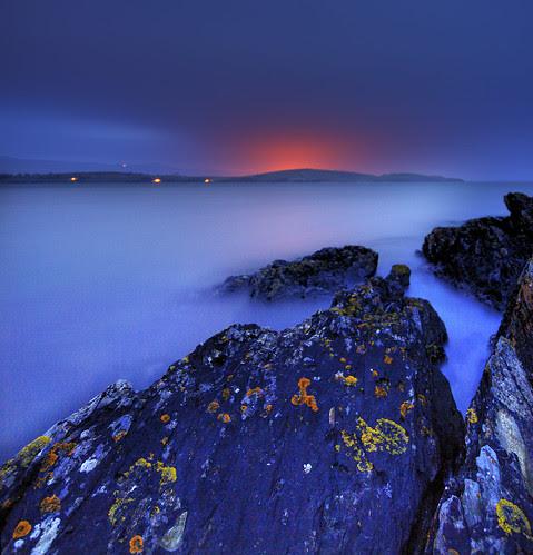 Harlech lights from Portmeirion