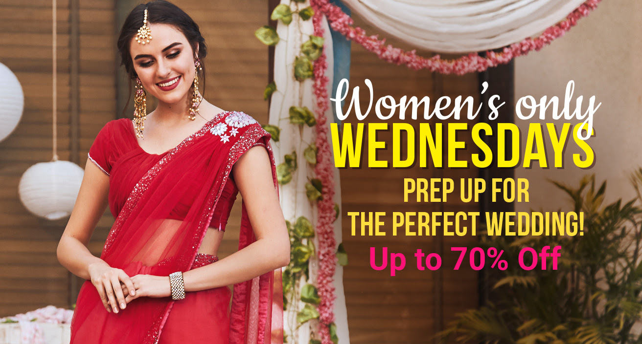 flipkart women's day prep up for the perfect wedding up to  70% off