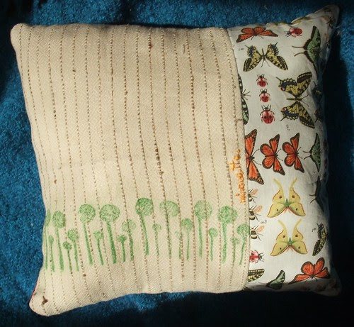 reverse of Orbit pillow