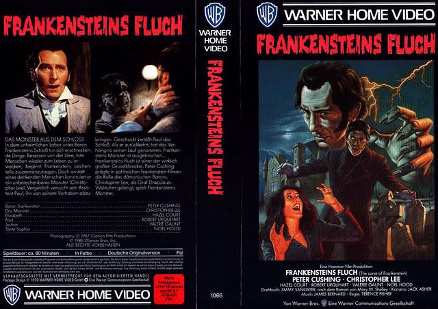 The Curse Of Frankenstein (VHS Box Art)