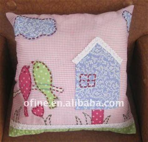 Applique Embroidery Bird Design Cushion Cover: China