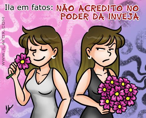 Ila em fatos: não acredito no poder da inveja, não acredito na inveja, ilustração by ila fox