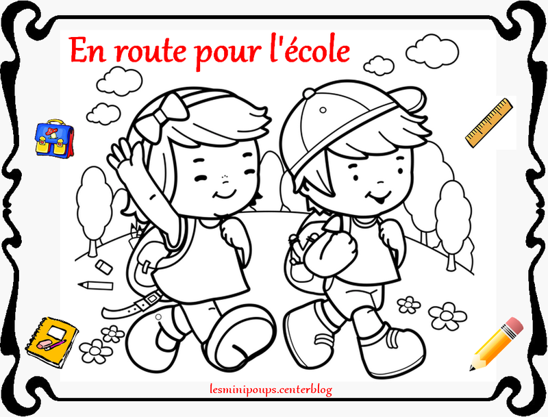 Coloriage Rentree Des Classes