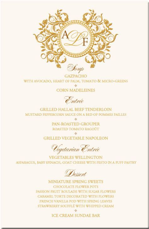 Paisley Buddhist Hindu Wedding Menu Cards,Indian Menu Card