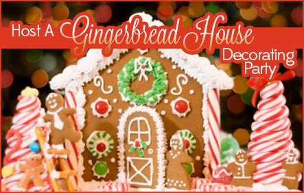 Host A Gingerbread House Decorating Party