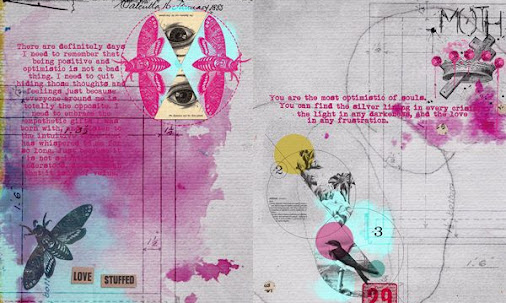 art journal page ideas | Pinterest this is a lovely color scheme and compos...