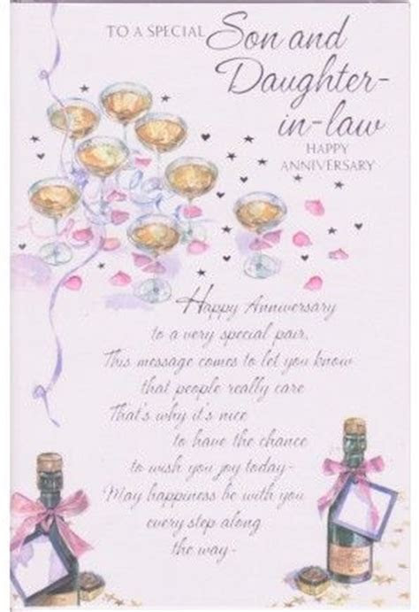 happy anniversary daughter and son in law   To a Special