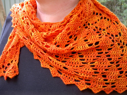 Flying Diamonds shawl