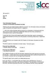 SLCC cost admission media monitoring FOI