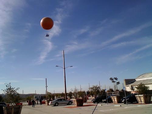 big orange balloon