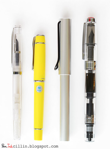 Noodler's, Pilot Prera, Lamy, TWSBI fountain pens