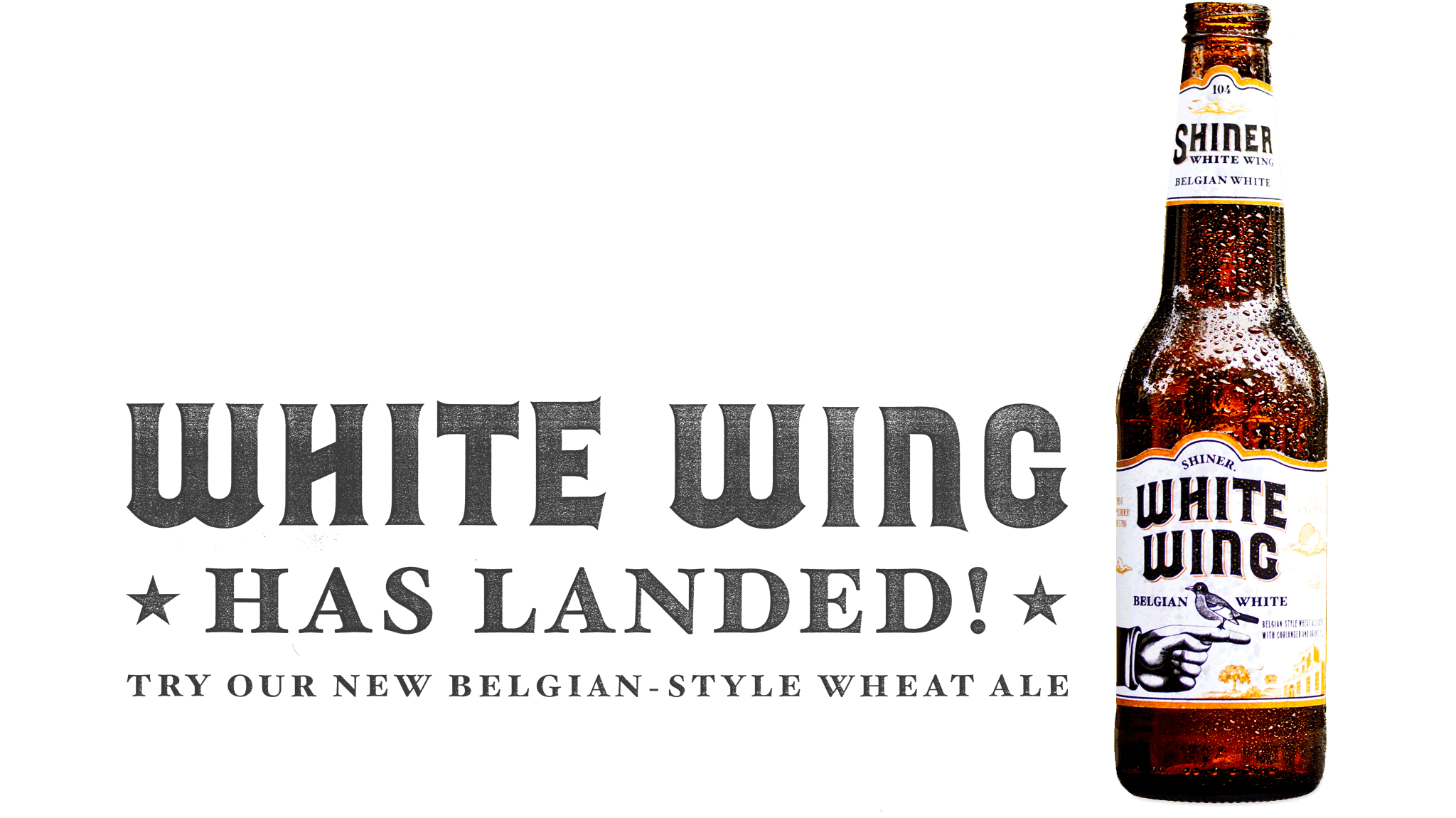 White Wing has landed. Try our new Belgian-style white ale.