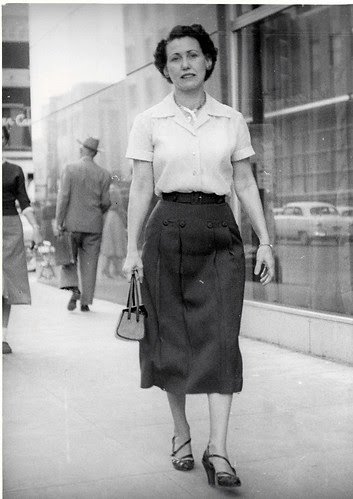 My Mom - Street photographer shot, 1950's