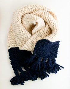 Easy Color Blocked Scarf from GAP