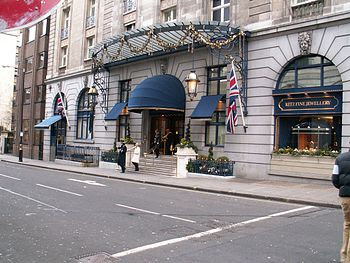 The Ritz hotel in London.