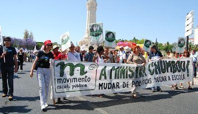 Manifestação de professores. Foto de Paulete Matos
