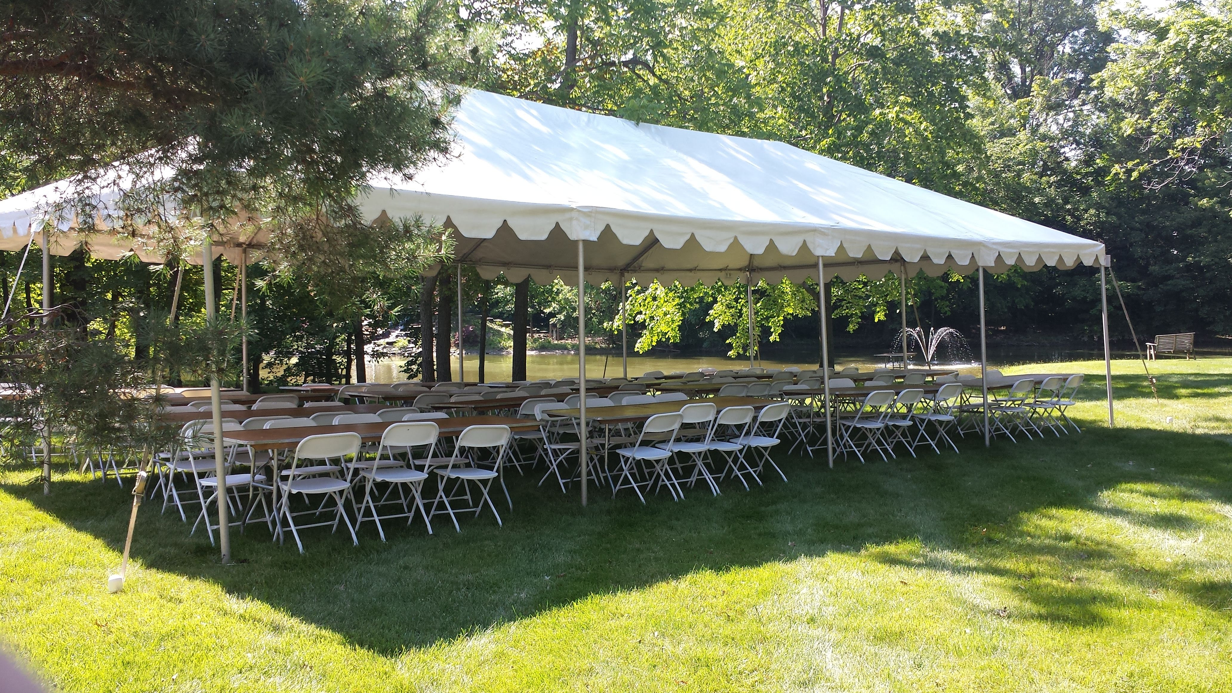 Traditional White Frame Tents Metro Cuisine Columbus Oh