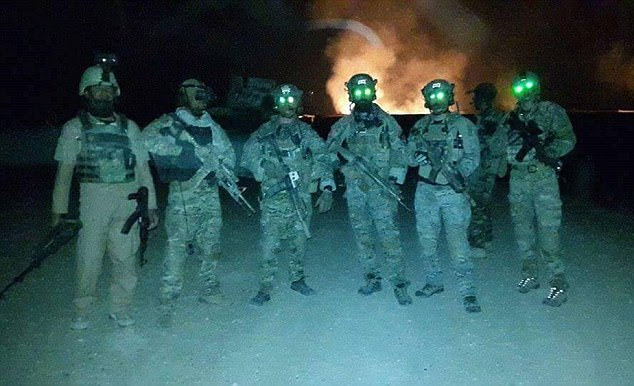 Pictured: Afghan and Western Special Forces in Helmand Province Afghanistan fighting the Taliban. A former SAS soldier has admitted to The Mail on Sunday that illegal killings were 'an unwritten rule of our job' but strongly defended the regiment's actions