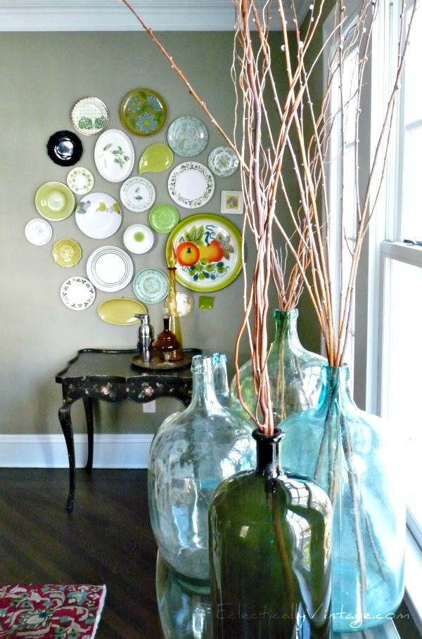 Eclectically Vintage Plate Wall eclecticallyvintage.com